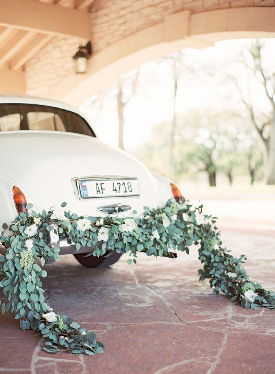 wedding getaway car decorations