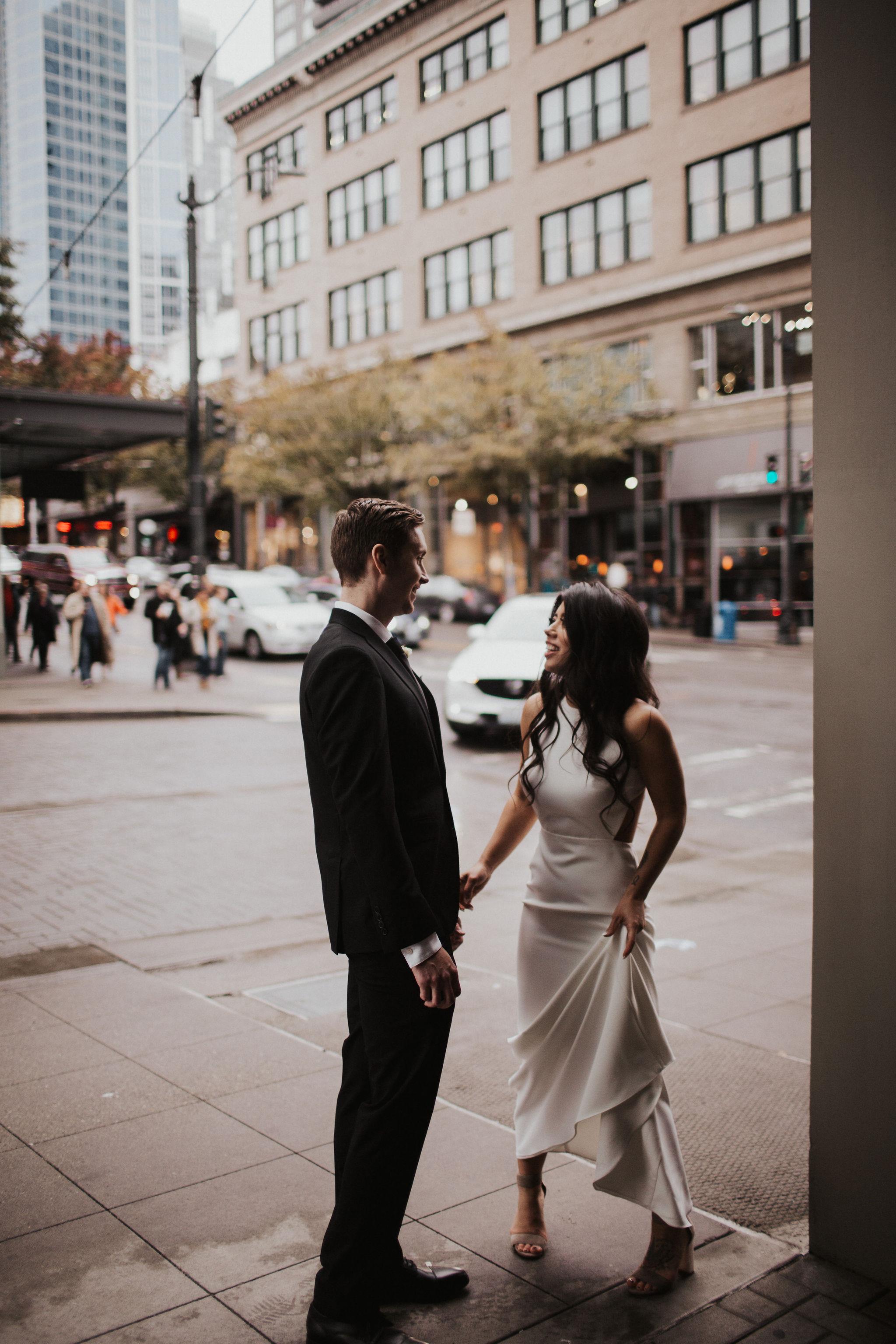 Downtown Seattle Streets Wedding