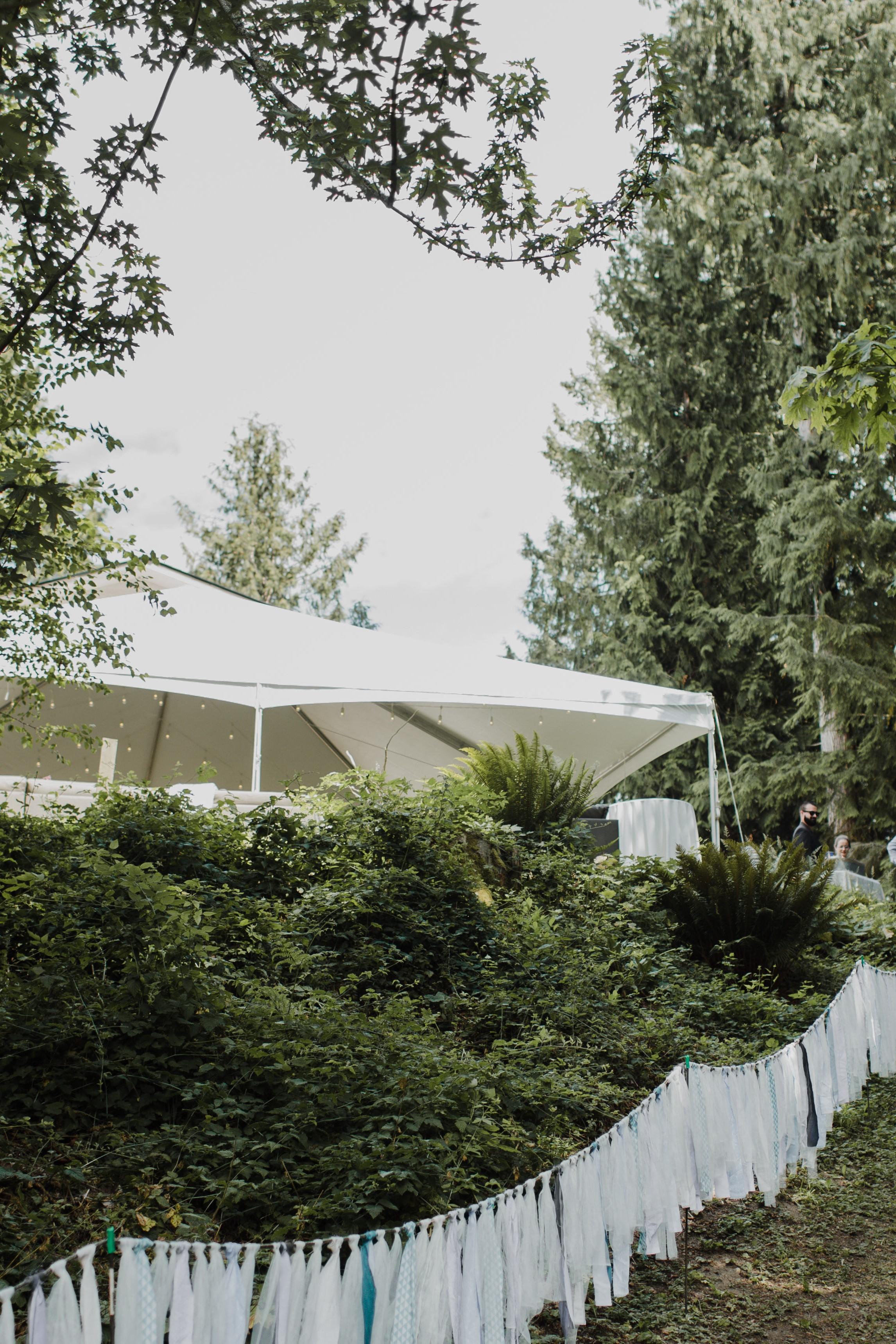 intimate backyard wedding camano island