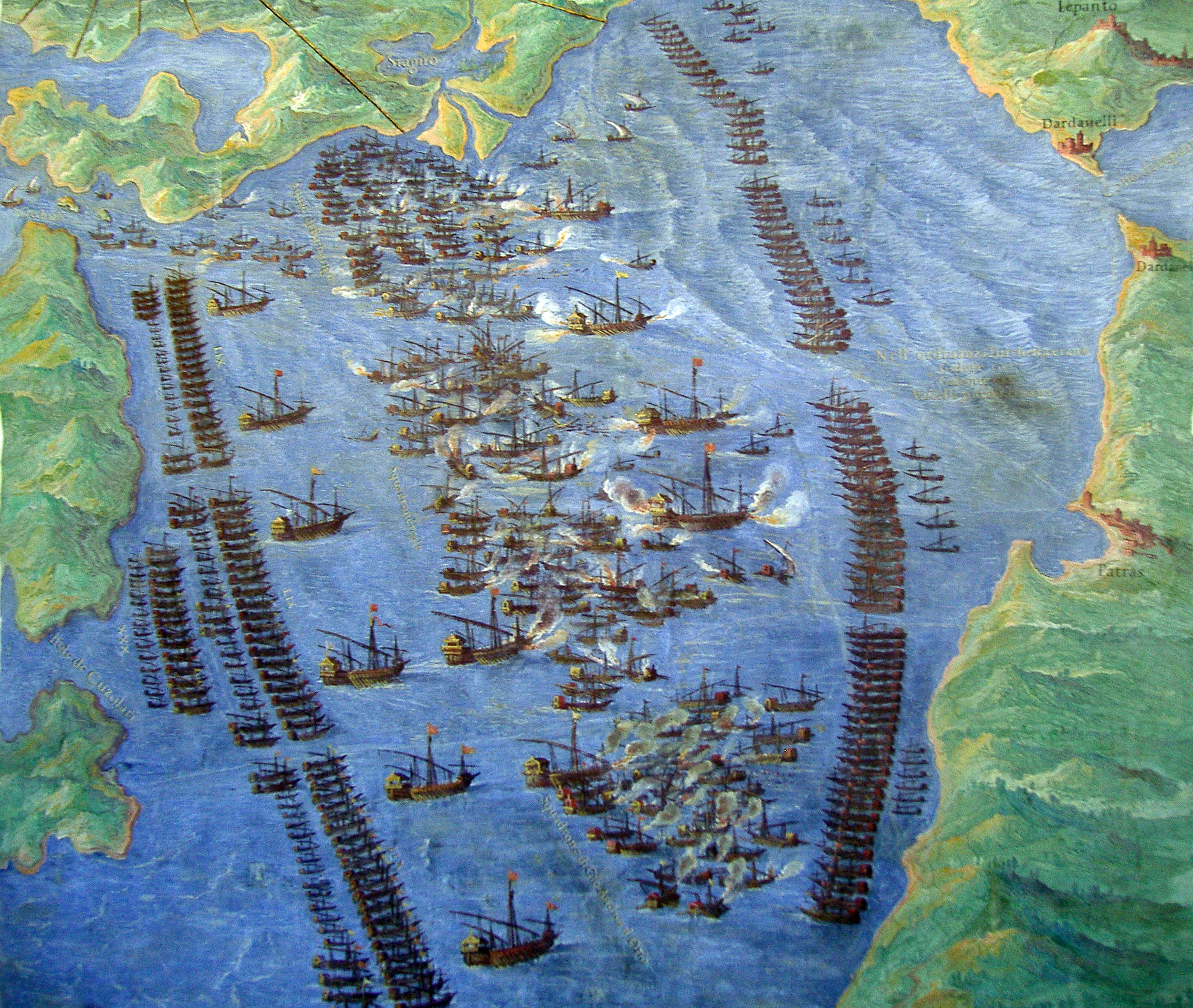 A fresco of the Battle of Lepanto in the Vatican