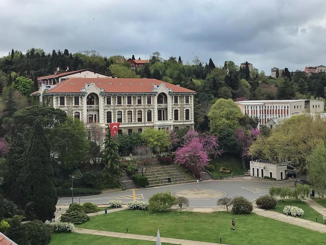 "The ""steps"" at Bosphorus University, Istanbul."