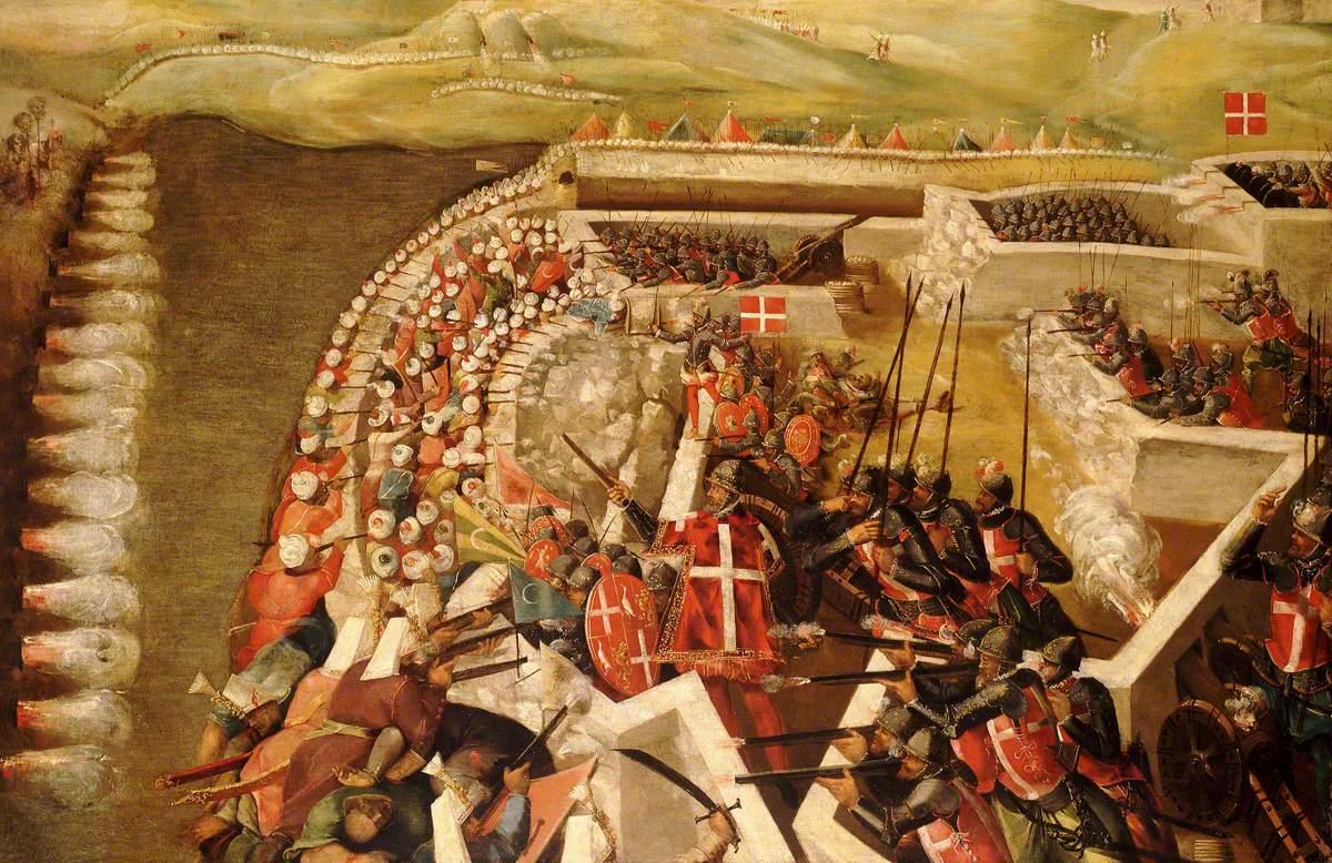 The Siege of Malta: Attack on the Post of the Castilian Knights, 21 August 1565: Matteo Perez d' Aleccio