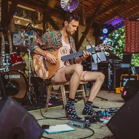 Thanks @meadowsinthemountains for the memory and @happysocks for the footwear!  Hope to see everyone again on top of the mountain next year.  My crowdfunder will finish in just over a week, there's heaps of interesting perks for your pounds. Link in bio for those that wish to help out  Heading back to Ibiza in the next month or so but will be a few gigs in London on the way.  #ambientguitar #ambientmusic #dreamscape #music #classicalguitar #meadowsinthemountains #festival #mindfulmusic #yoga #yogamusic #yogaretreat