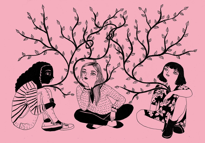 Ilustración de Maria Hesse para Girly Girl Magazine.