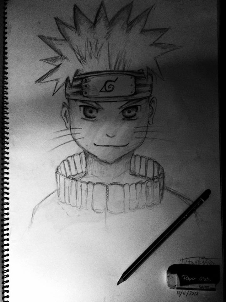 Naruto   A friend asked me to draw Naruto (an anime character) and this is the end result.  Medium: HB Pencil on Cartridge Paper