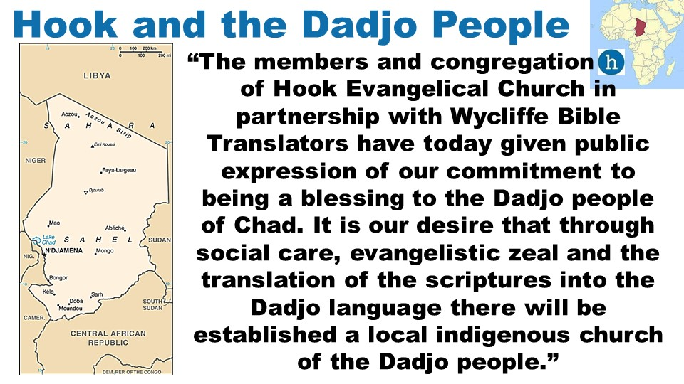 the on-going work of translating the Bible into Dadjo