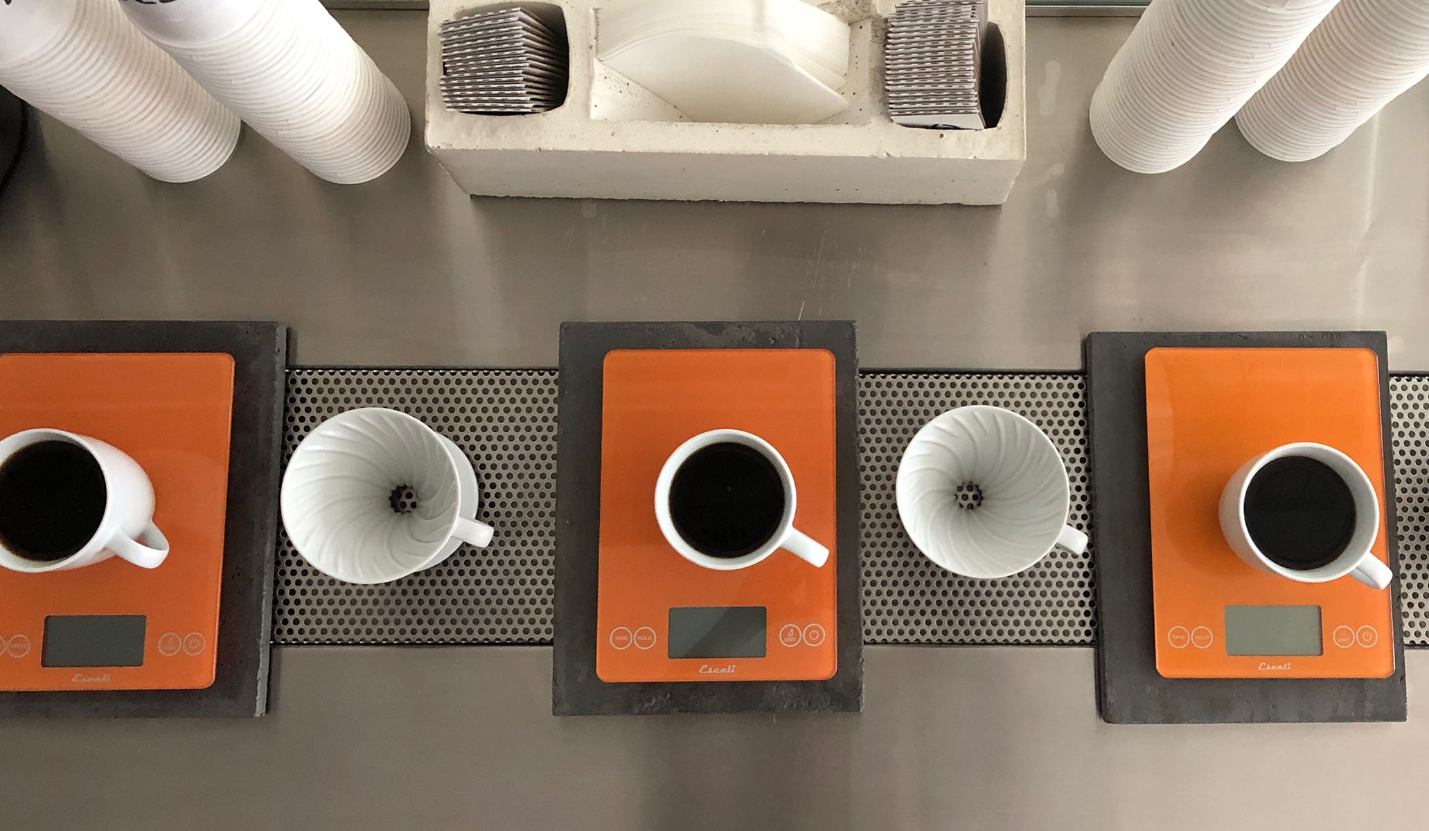 BREW COFFEE - We brew pour over coffee to order in our cafe using the V60 method.