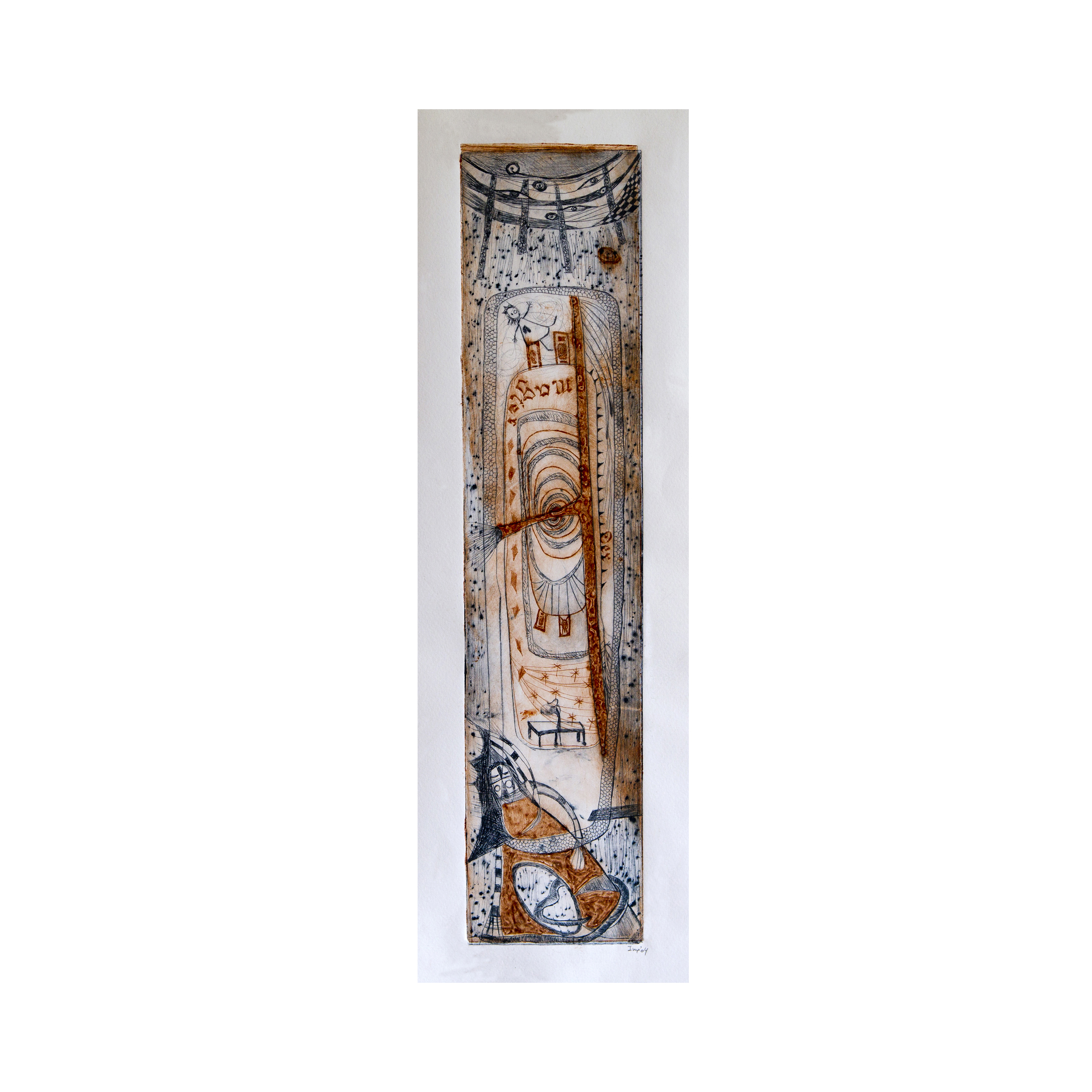 """The Magician"", Limited edition print, mixed media on plexiglas 10 x 45 cm 2004"
