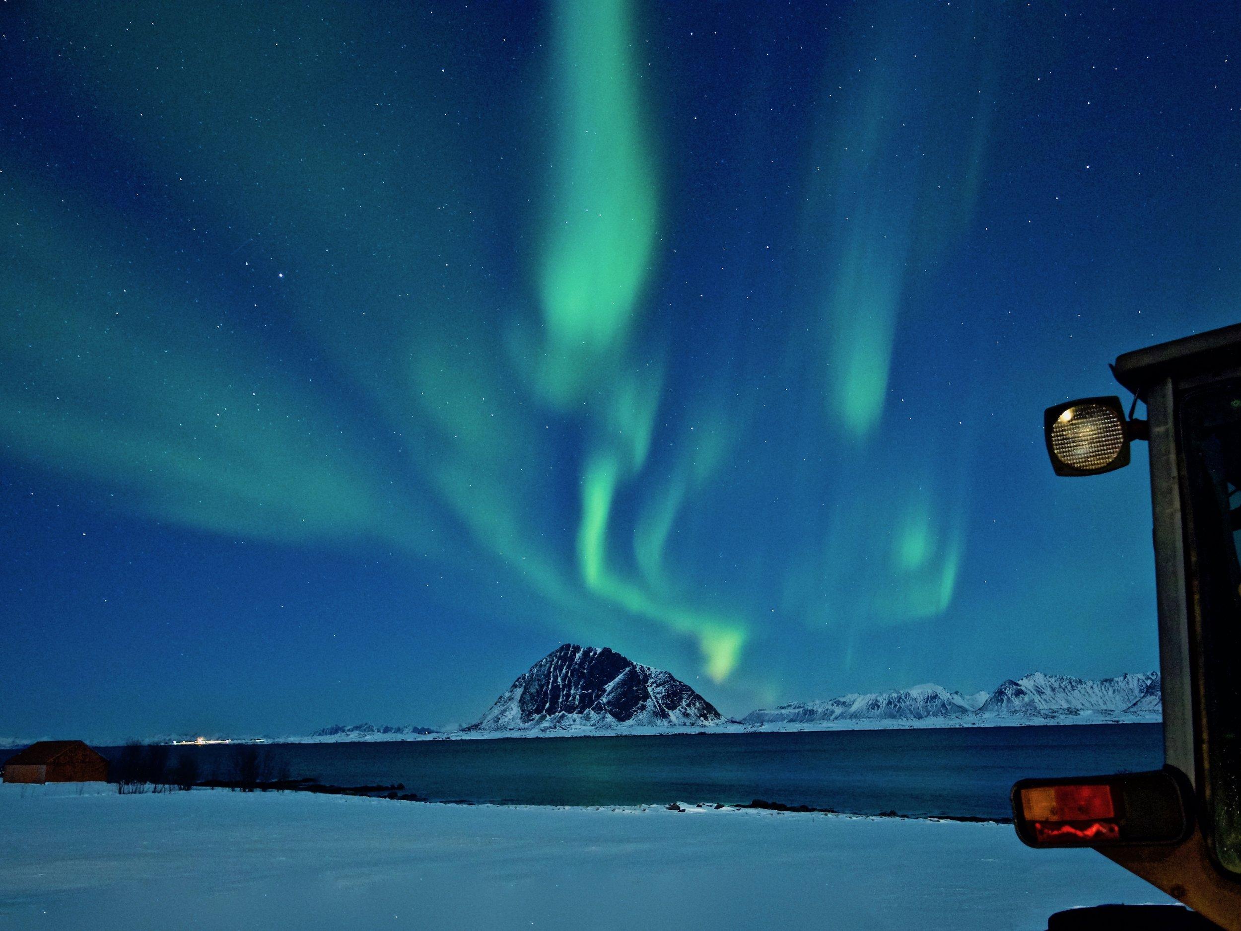 Lofoten Nordlys Auroraborealis Northern light
