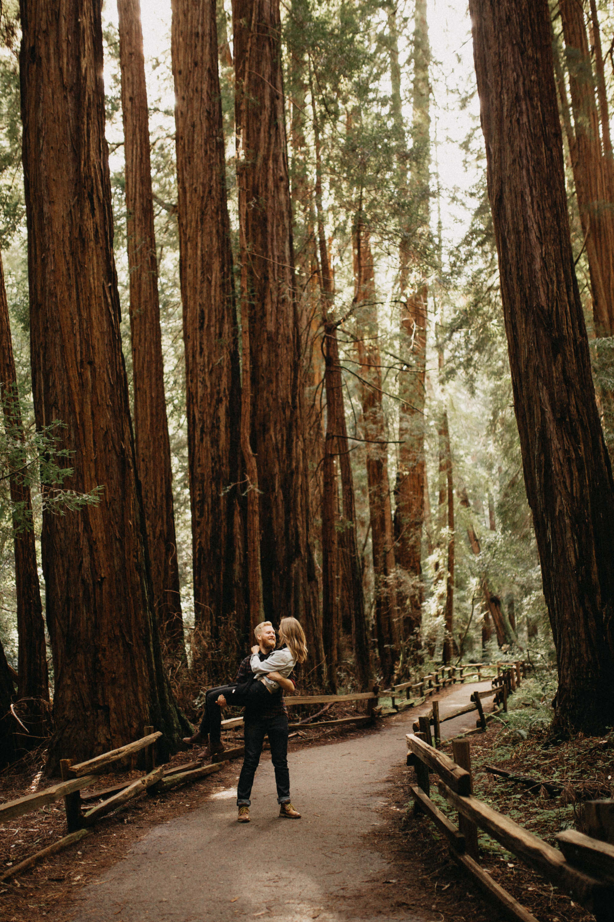 redwoods engagement session elikubikova