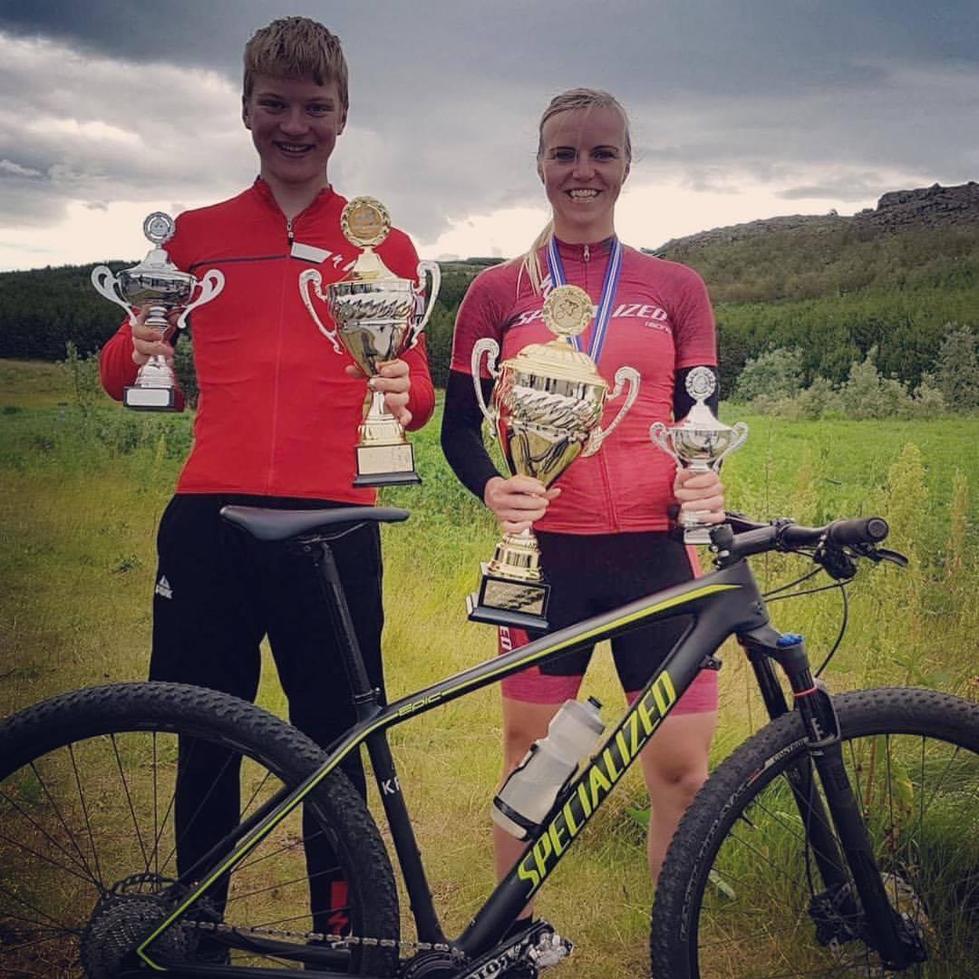 Gústaf Darrason Íslandsmeistari í UCI Junior og Ágústa Edda Björnsdóttir í UCI Elite kvenna.
