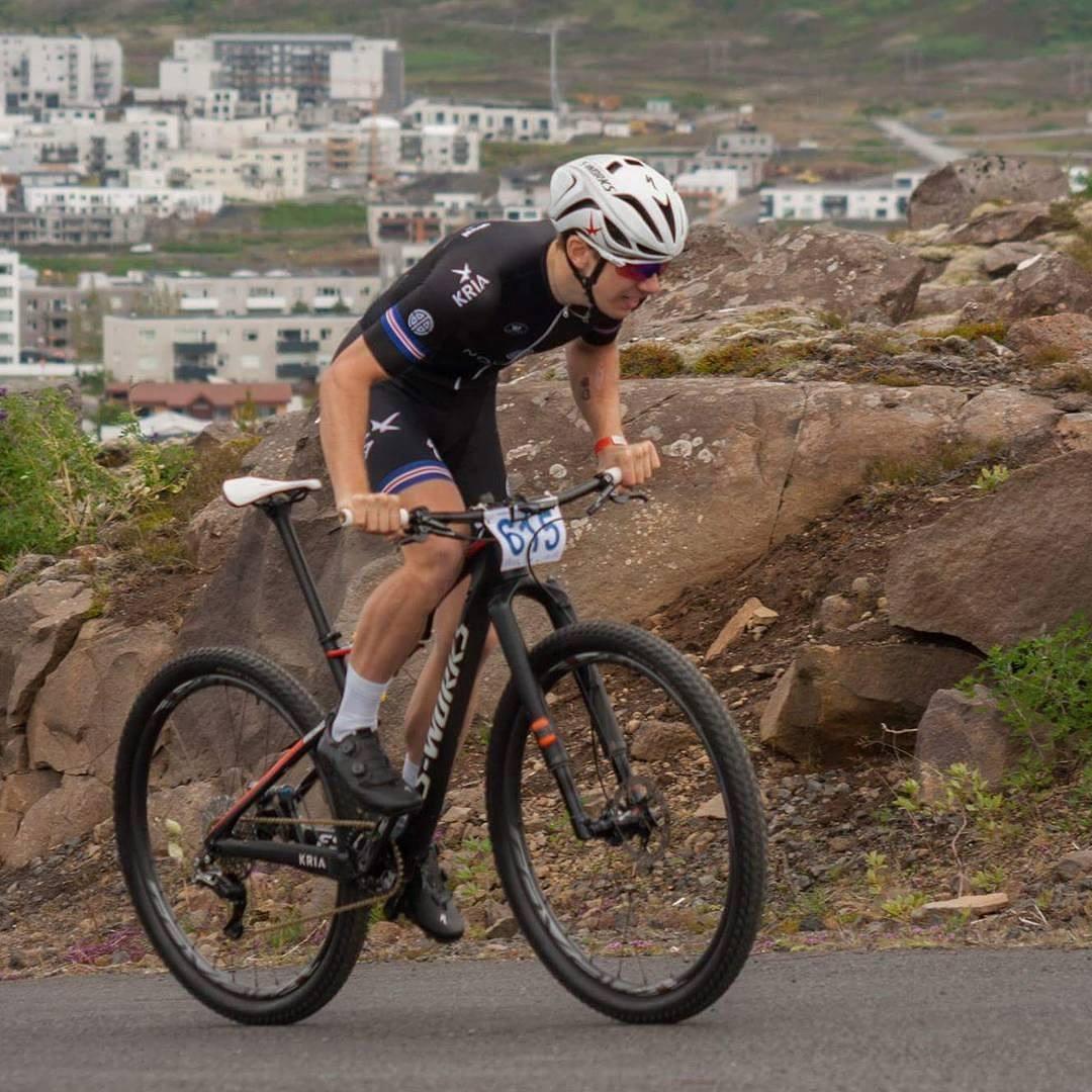 Ingvar Ómarsson Íslandsmeistari UCI Elite karla 2017.