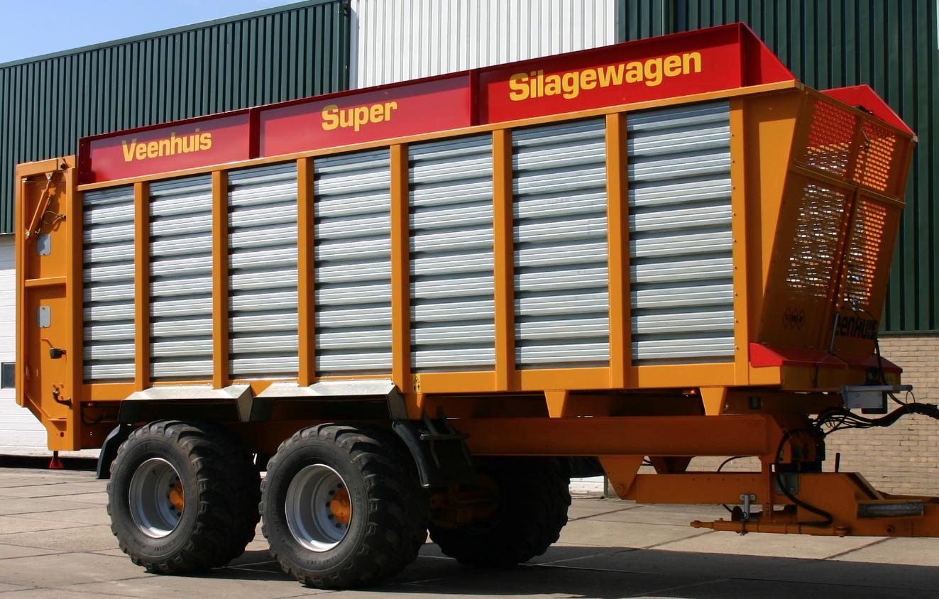 silagewagen na herstel van de carrosserieschade, gereed voor aflevering