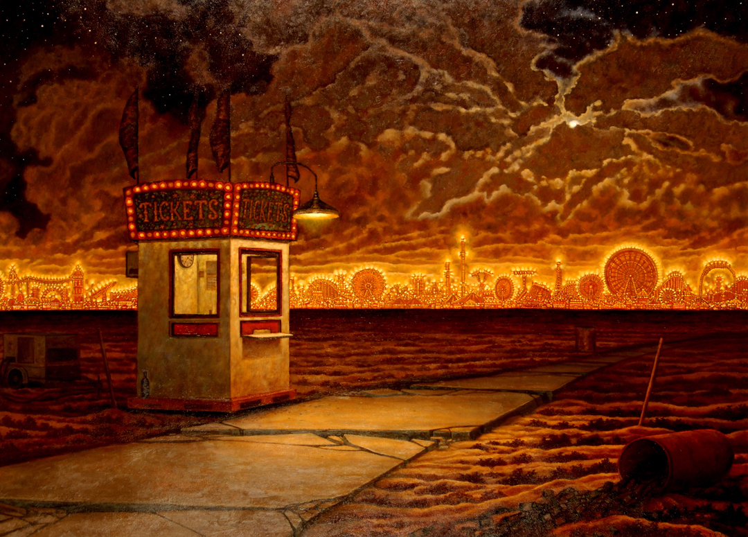10) DMohl-The Ticket Booth-Oil on Canvas.JPG