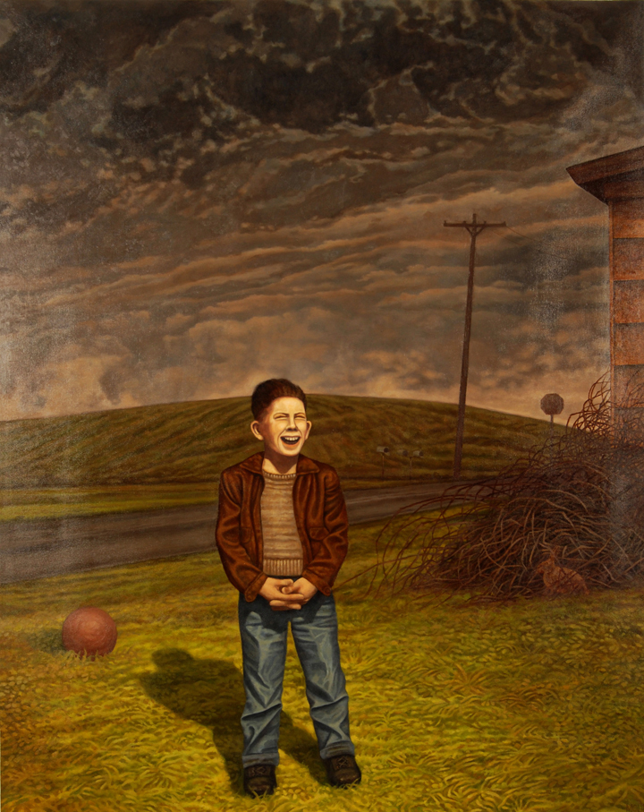 14) DMohl-A Boy Waiting in His Yard-Oil on Canvas.JPG