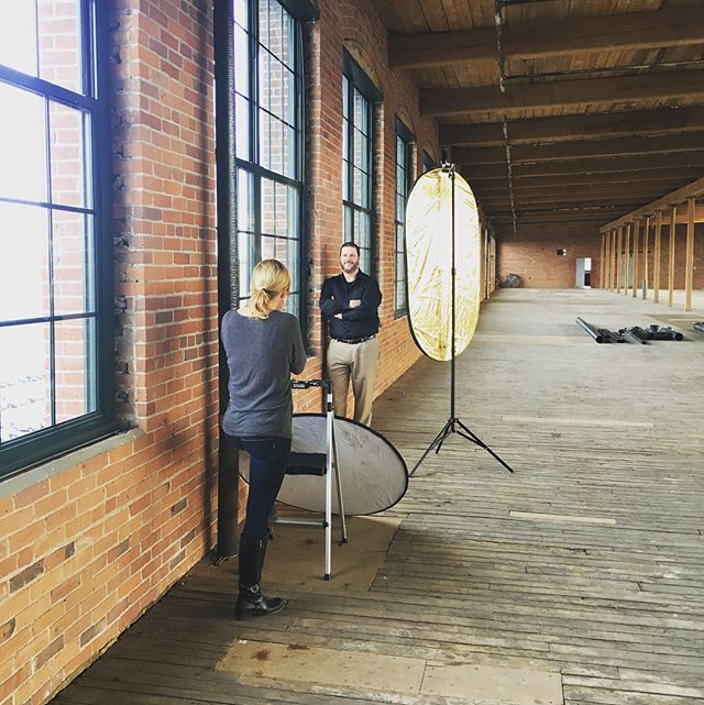 Thank you, @kwholey, for taking headshots of our team today! Here's a sneak peek from our 6th floor at @riverwalklawrence | #lupolilove 📸