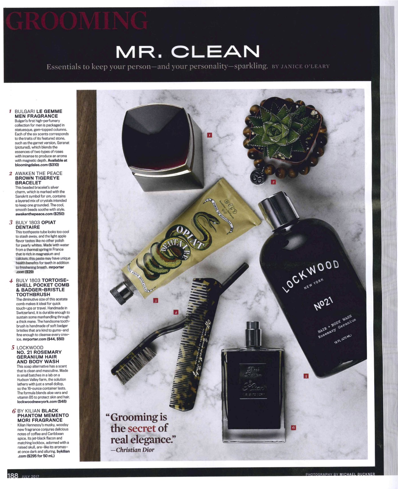 Robb Report: Mr Clean Essentials