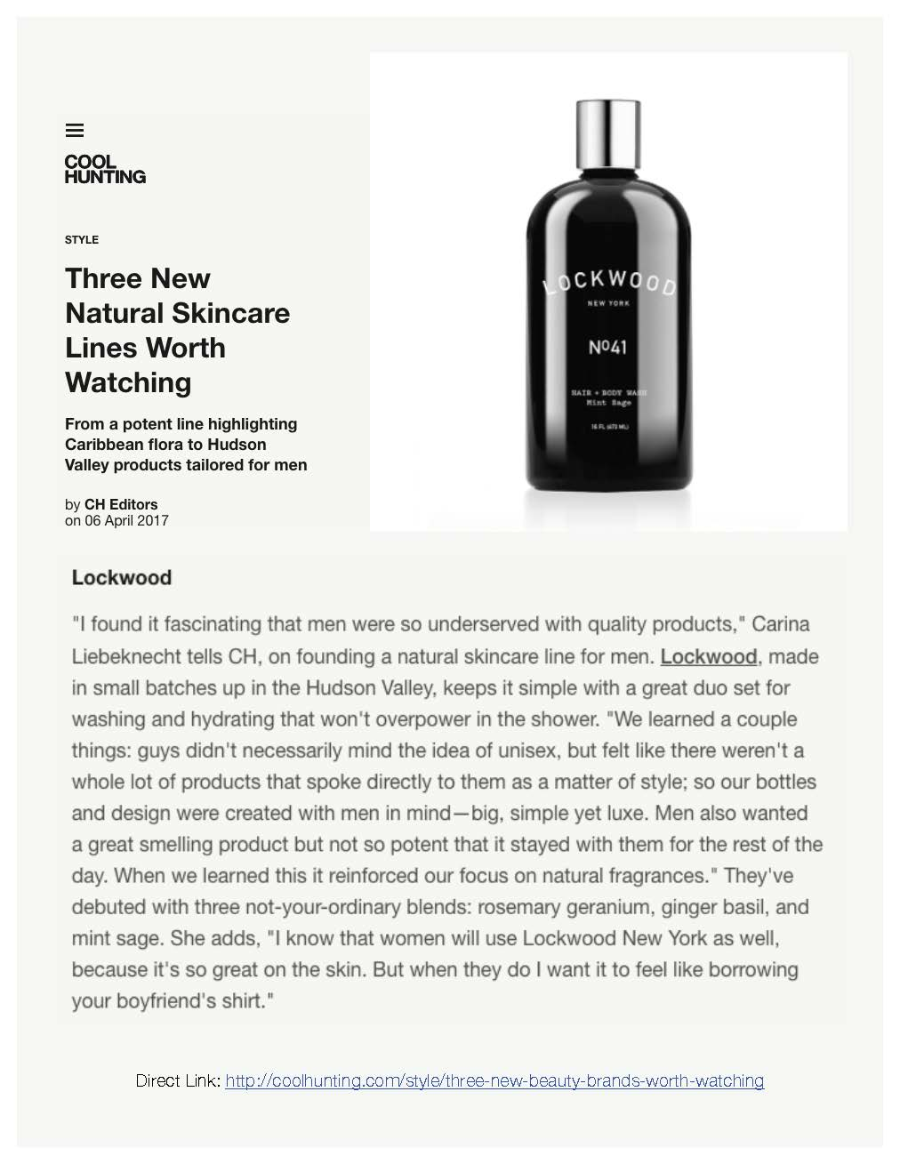 Cool Hunting: Natural Skincare Lines To Watch