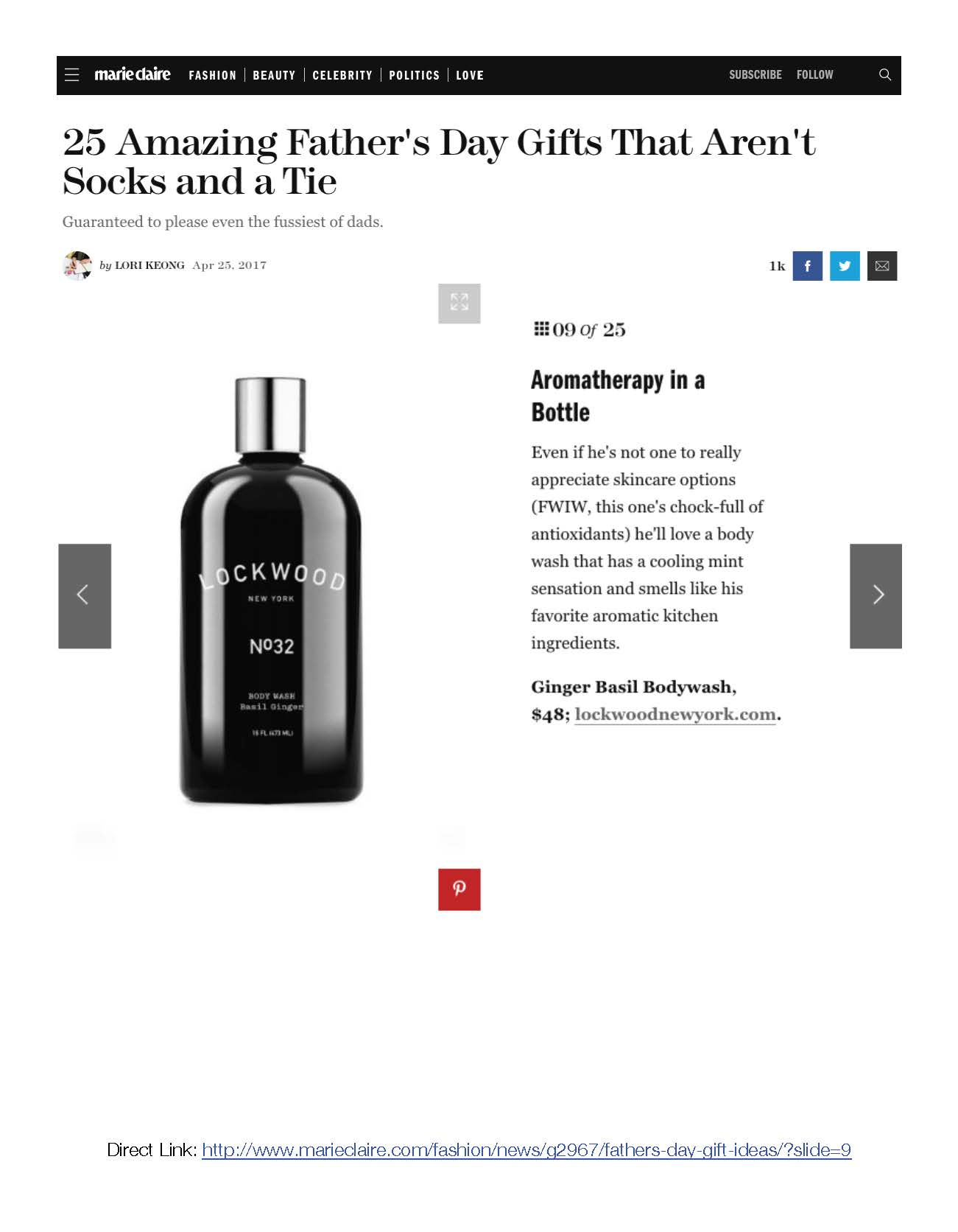 Marie Claire: Amazing Father's Day Gifts