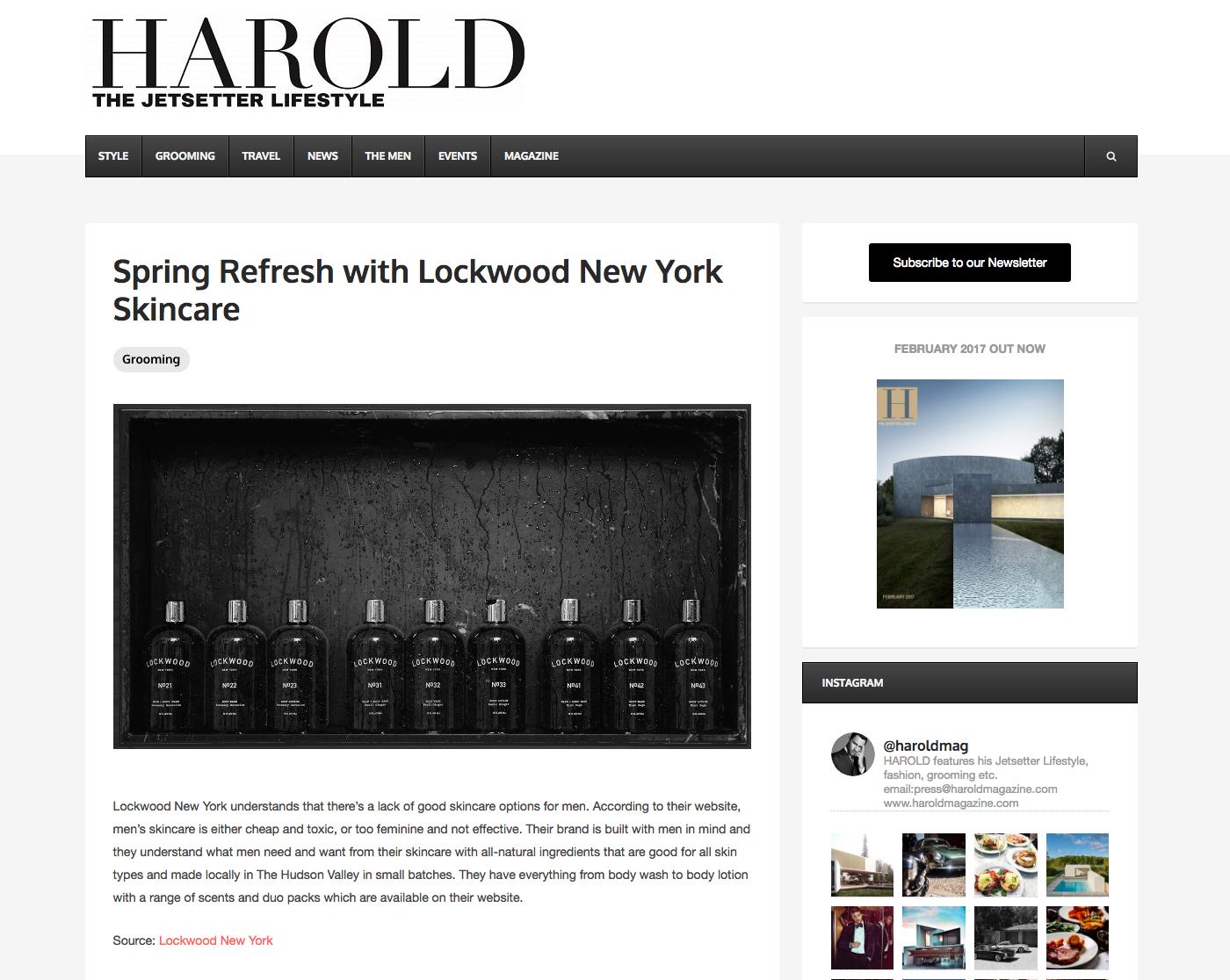 Harold Magazine: Spring Refresh With Lockwood New York