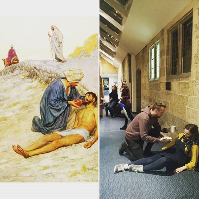 Our principals are reproducing a famous painting by William Henry Margetson. But what does it depict? One clue: it's not a BAD samaritan... ;-) #TheWBOSWay #PrepareYe