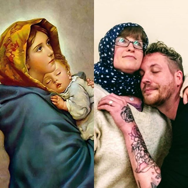 "Let's start the weekend with this little nugget of joy! Do you like our imitation of Roberto #Ferruzzi's ""#Madonna of the streets""? We wish all our friends a glorious weekend! #PrepareYe"