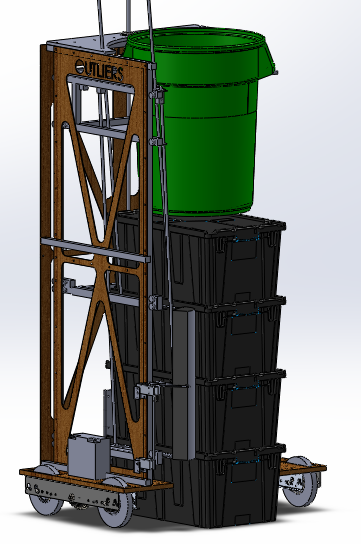 "CAD Model of Timmy - Our 2015 ""Recycle Rush"" Robot"