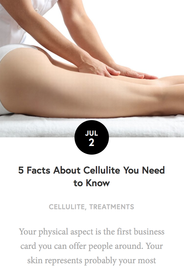 5 Facts about Cellulite you need to know