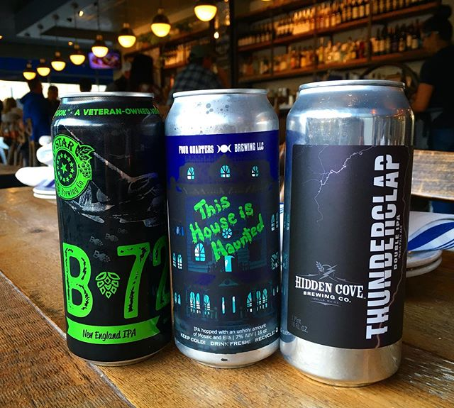 NEW CANS!! @14thstarbrewing #b72 @4quartersbrew #thishouseishaunted @hiddencovebrewing #thunderclap