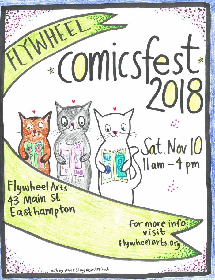 the poster for Comicsfest at the Flywheel