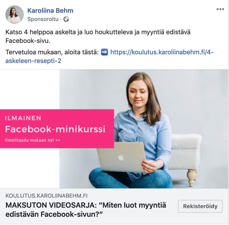 facebook mainos 2