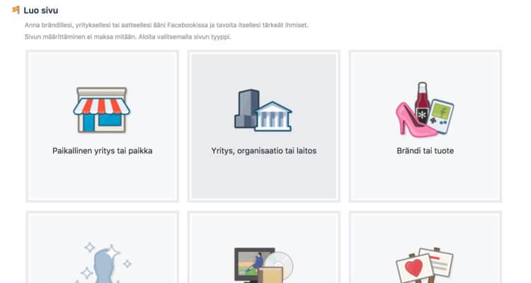 Yrityksen Facebook-sivun perustaminen