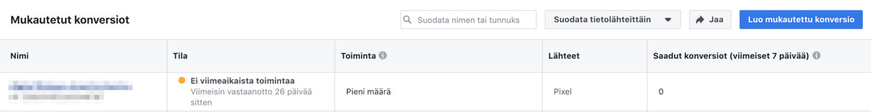 Facebook-pikselin käyttö