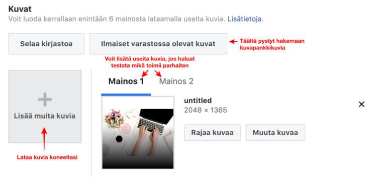 Facebook-mainos