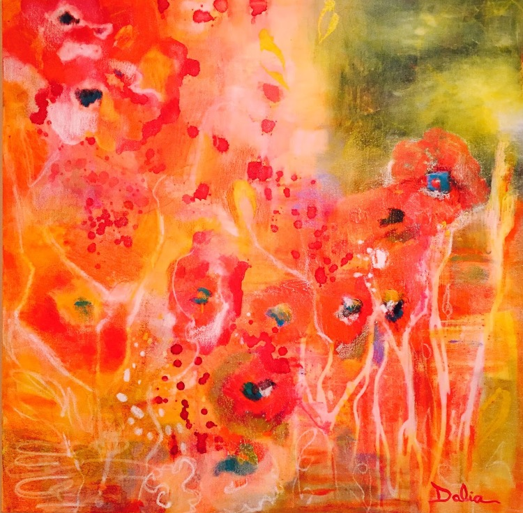 Field of Poppies  36x36  $1,050