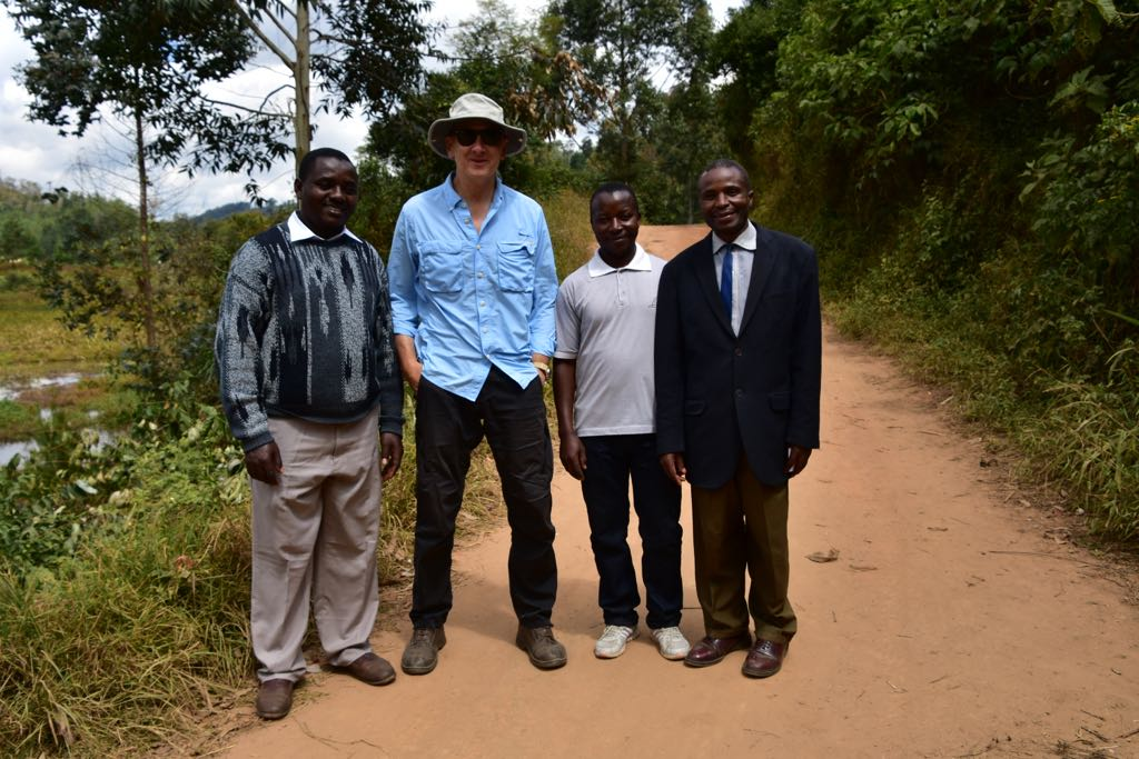 Norberto with Headmaster and teachers from Madege Secondary School
