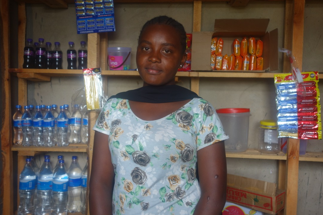 Fausta, 20, store owner and member of Lyra's school leavers entrepreneurship training