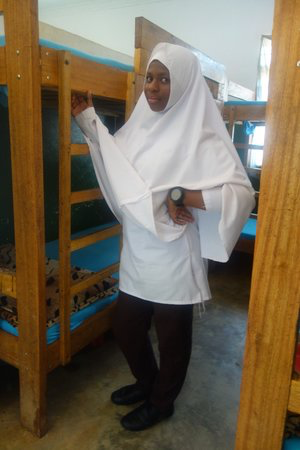 Shahida, 15, in a Lyra hostel.