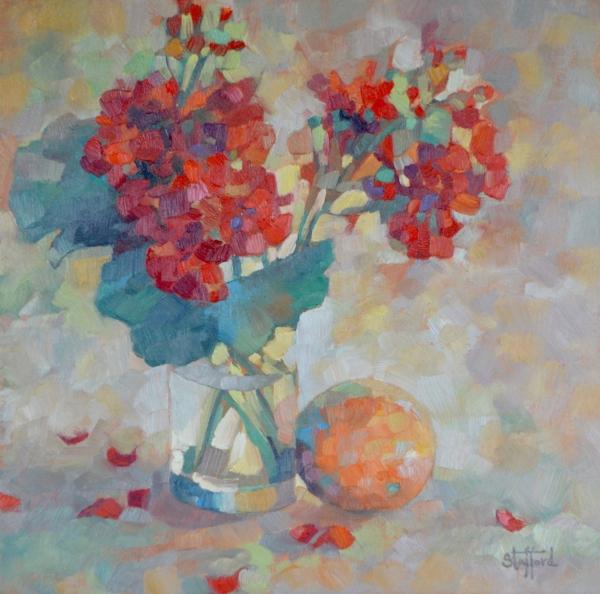 geraniums   12 x 13