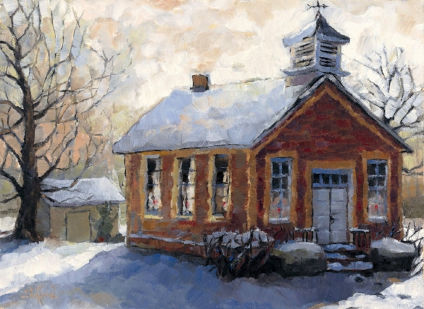 peachbelt schoolhouse  9 x 10
