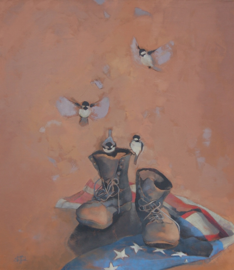 My Grandfather's Boots, 42x48, oil on canvas