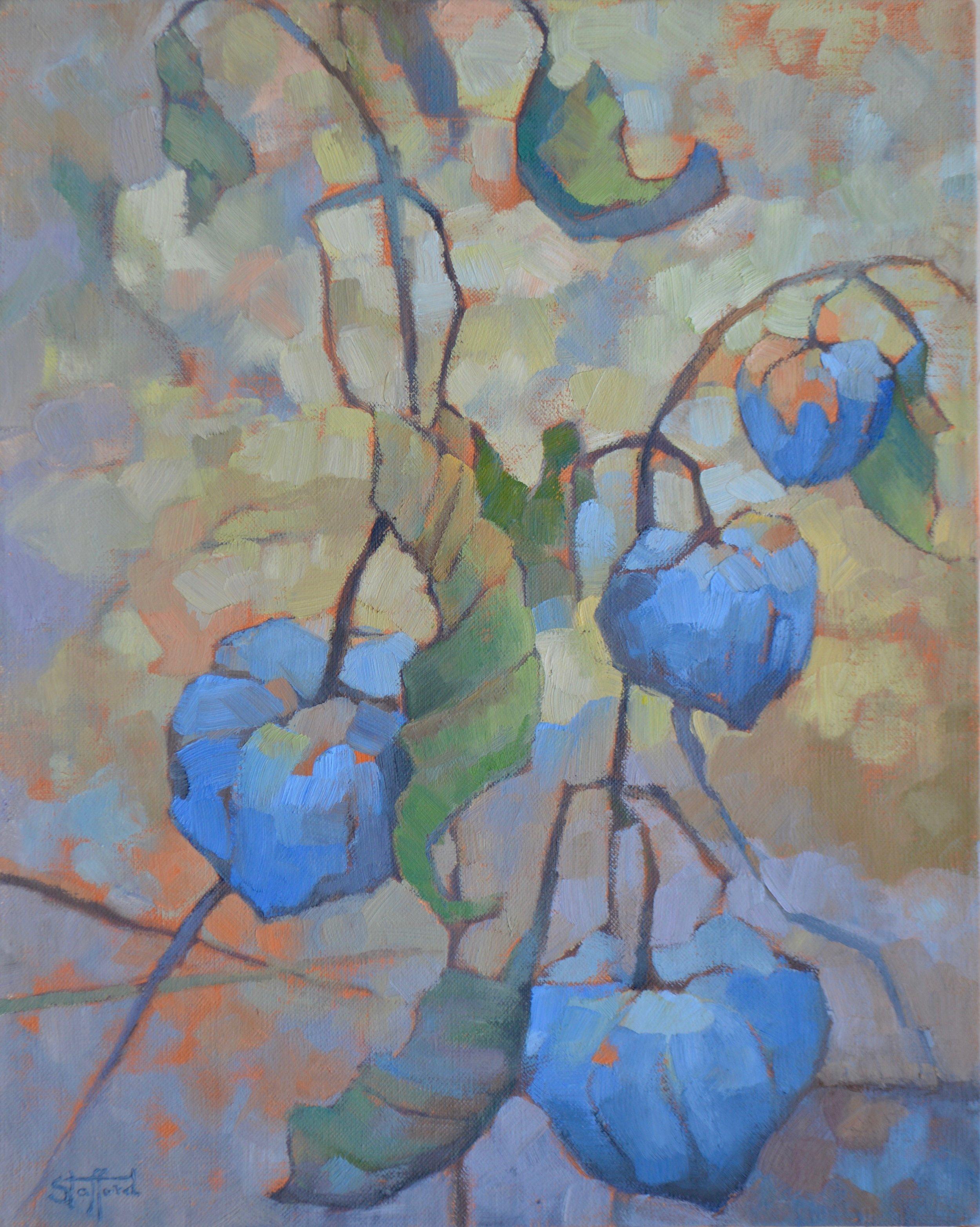 """Blue Lanterns"" oil on linen 16x20"