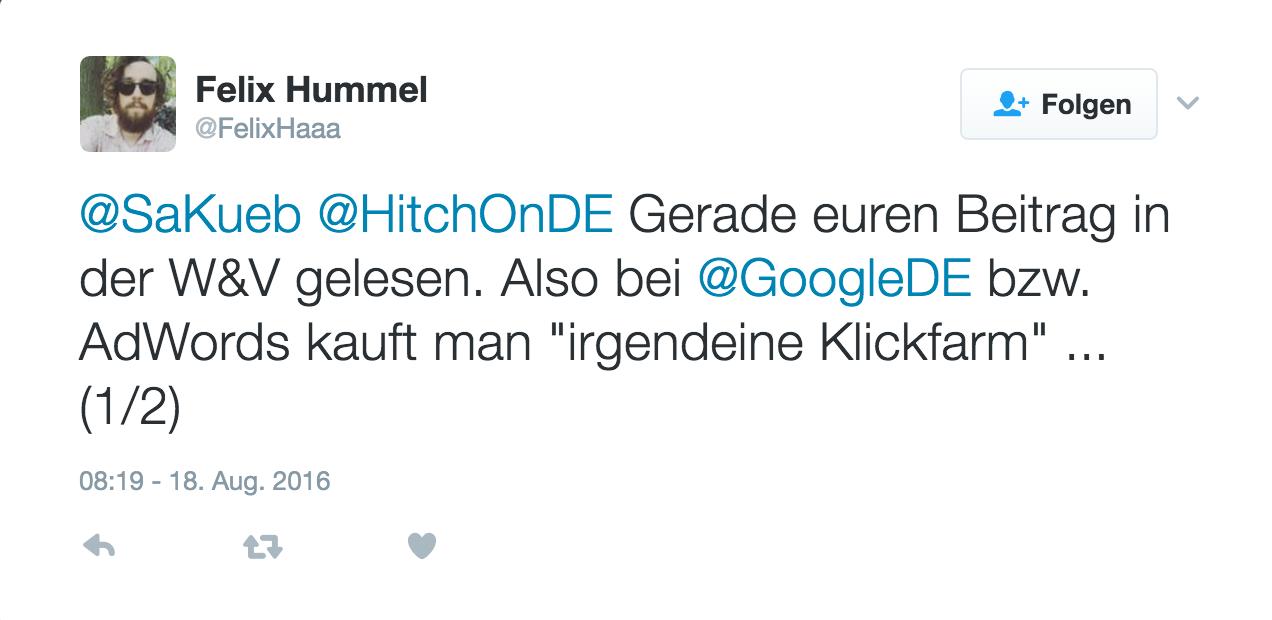 Felix Hummel Twitter