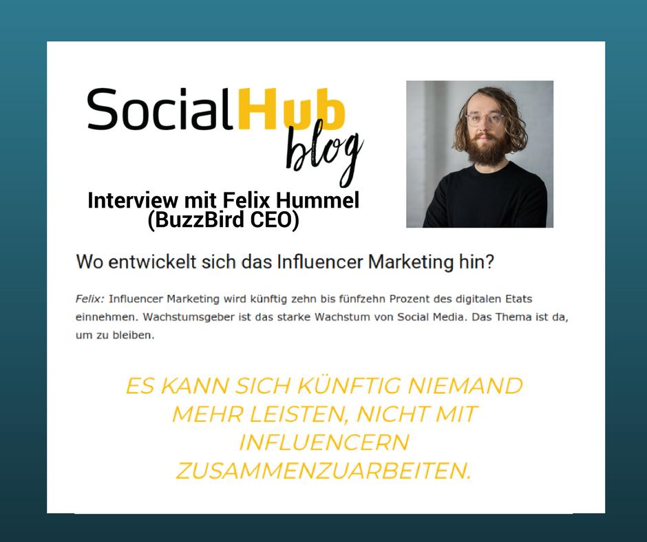 BuzzBird CEO Felix Hummel im SocialHub Mag