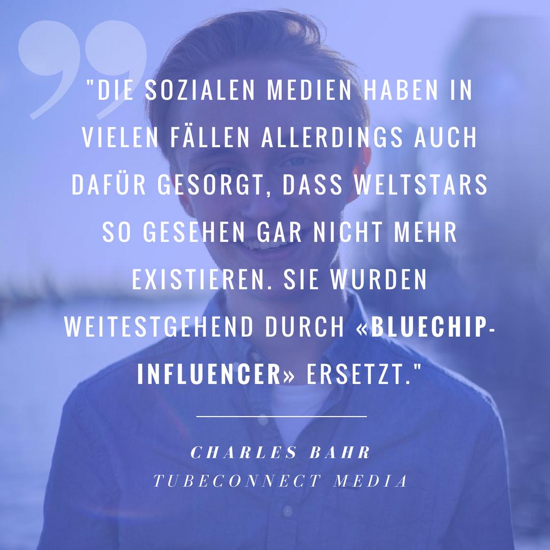 Charles Bahr über die neuen Stars
