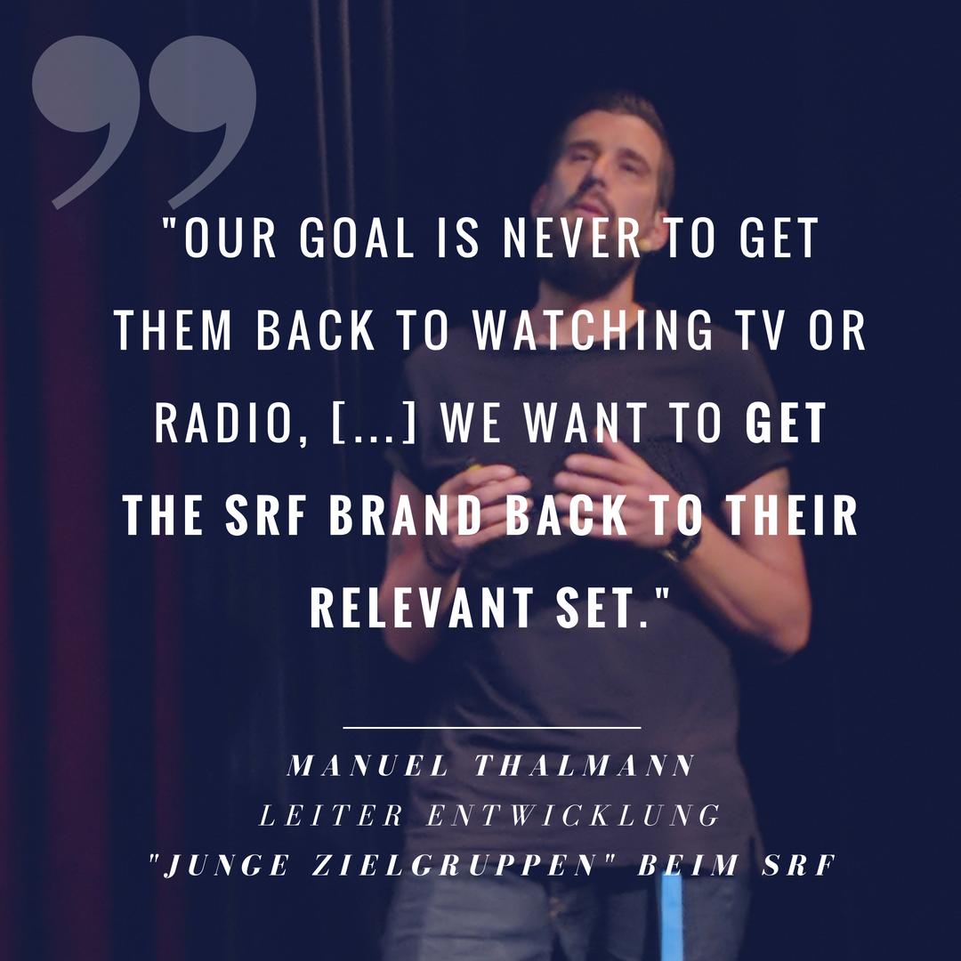 Warum der SRF auf Influencer-Inhalte setzt, um die Jugend zu erreichen - Manuel Thalmann bei den 'Eyes & Ears Insights: Influencer Marketing for Media Brands'