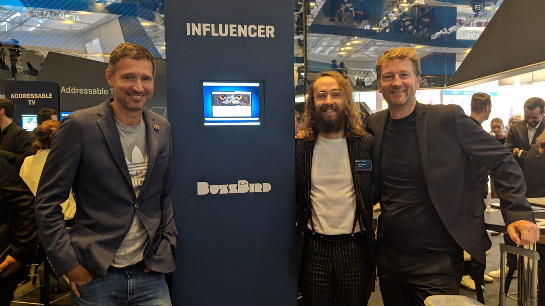 BuzzBird-Gründer Andreas Türck, Felix Hummel und Klaus Ahrens auf der DMEXCO