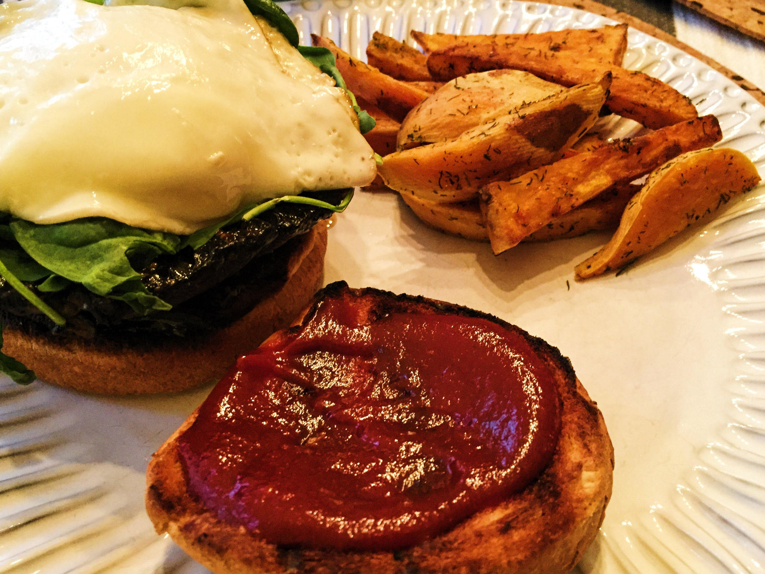 Plated Burger