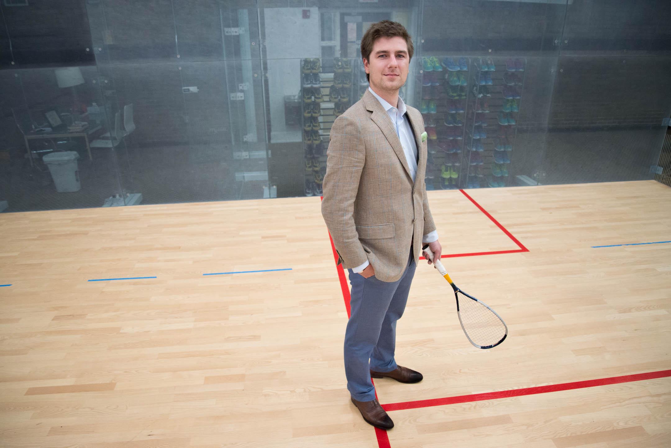 Austin Schiff, executive director of the Cincinnati Squash Academy.