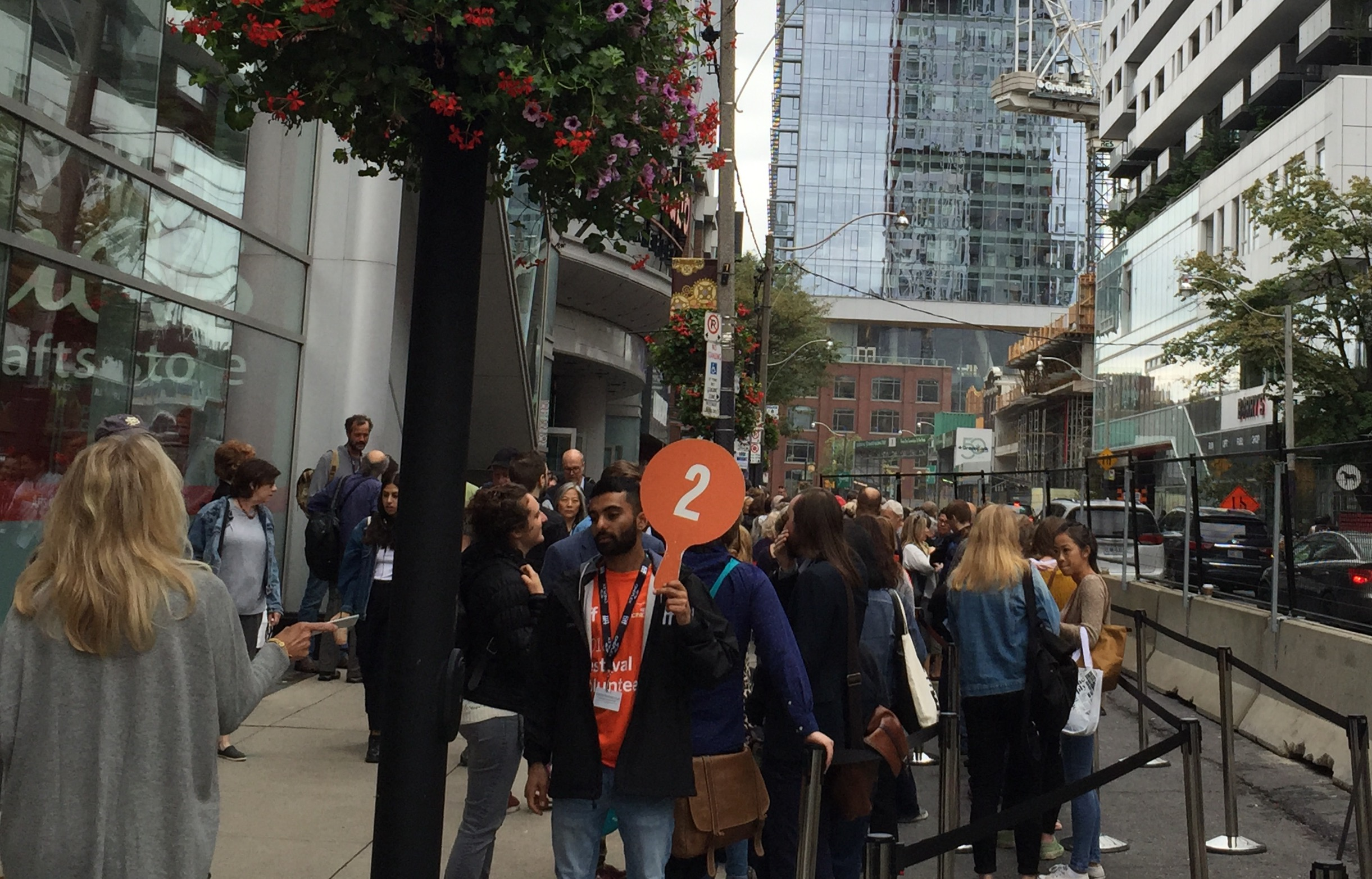 Long lines are the norm at Toronto International Film Festival screenings, scattered throughout the downtown area. The Festival is estimated to contribute some $189 million to the area's economy with nearly 400 films shown during the 10 days.